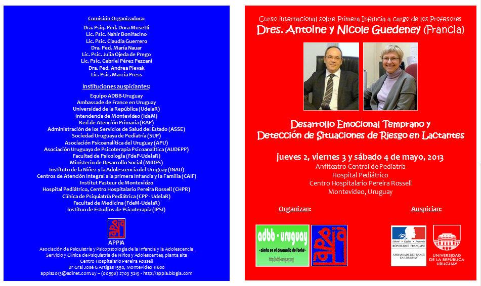 Dres. Antoine y Nicole GUEDENEY en URUGUAY